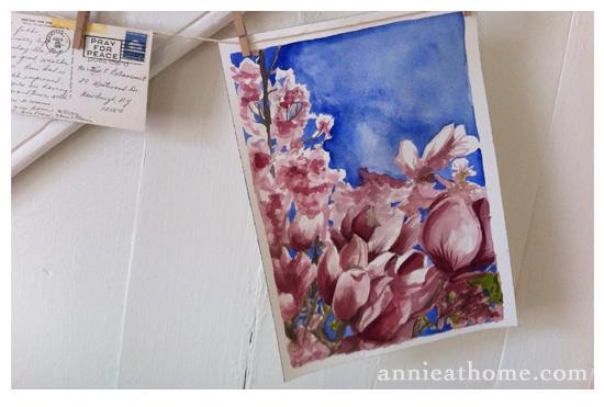 magnolia-painting